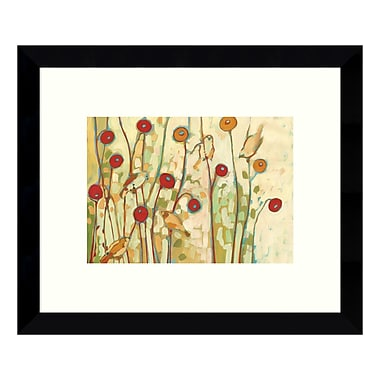 Amanti Art – Reproduction encadrée de « Five Little Birds Playing Amongst the Poppies » Jennifer Lommers, 11 x 9 po (DSW3422526)
