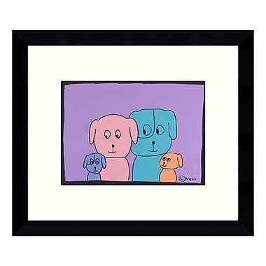Amanti Art Framed Art Print 'Family Portrait of Dogs' by Brian Nash, 11