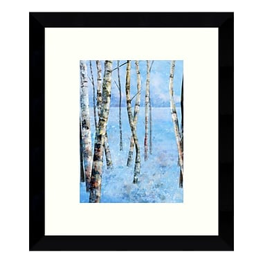 Amanti Art – Reproduction encadrée de « Blue Winter II: Birch Trees » par Kay Daichi, 9 x 11 po (DSW3424970)