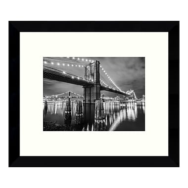 Amanti Art Framed Art Print 'Brooklyn Bridge (New York)', 11