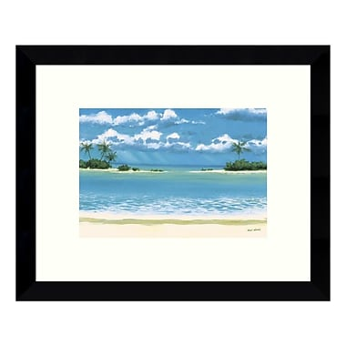 Amanti Art Framed Art Print 'Caribbean Palms (Beach)' by Rick Novak, 11