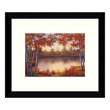 Amanti Art Framed Art Print 'Red & Gold Autumn Landscape' by Diane Romanello, 11