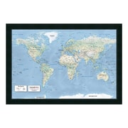 """Amanti Art Framed Art Print '2016 World Map, Classic Physical' by Mapping Specialists, 39"""" x 27"""" (DSW3455603)"""