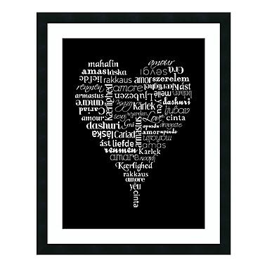 Amanti Art Framed Art Print 'Translation of Love' by Tenisha Proctor, 24