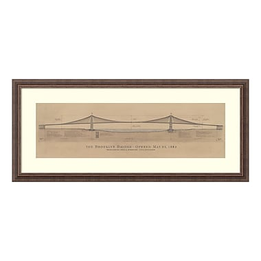 Amanti Art – Reproduction encadrée de « Brooklyn Bridge » de Craig S. Holmes, 41 x 18 po (DSW3582069)