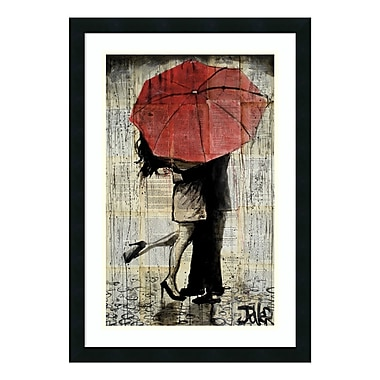 Amanti Art – Reproduction encadrée de « The Red Umbrella » de Loui Jover, 21 x 30 po (DSW3582073)