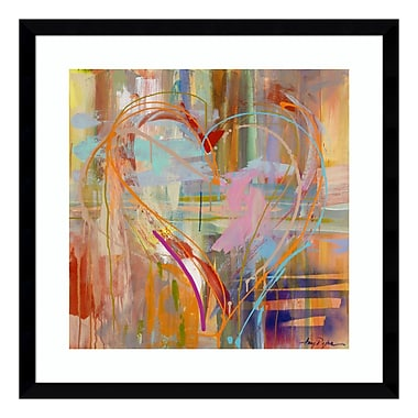 Amanti Art Framed Art Print 'Abstract Heart' by Amy Dixon, 21