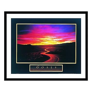 Amanti Art – Impression encadrée de « Goals: Sunrise/Road », 33 x 27 po (DSW3582220)