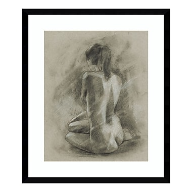 Amanti Art Framed Art Print 'Charcoal Figure Study II' by Ethan Harper, 22