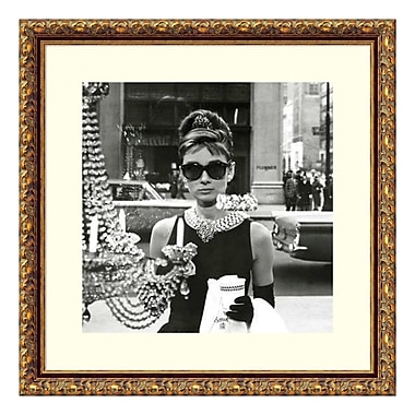 Amanti Art Framed Art Print 'Audrey Hepburn Breakfast at Tiffany's (Window)', 19
