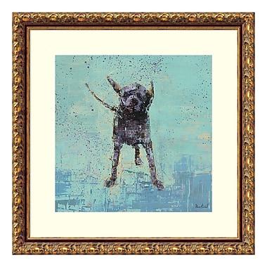 Amanti Art – Reproduction encadrée de « Shake No. 3 Dog » par Rebecca Kinkead, 18 x 18 po (DSW3582467)