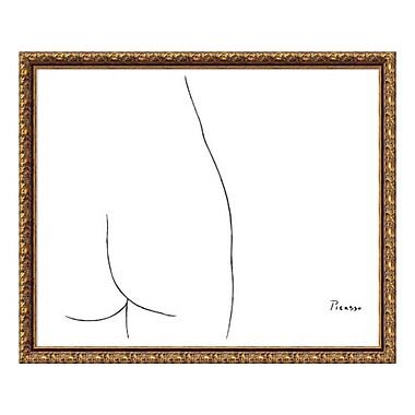Amanti Art – Reproduction encadrée de « Femme » par Pablo Picasso, 29 x 24 po (DSW3582520)