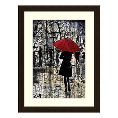 Amanti Art – Reproduction encadrée de « Metro Red Umbrella » de Loui Jover, 18 x 24 po (DSW3583131)