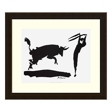 Amanti Art – Reproduction encadrée de « Corrida III - Picador » de Pablo Picasso, 20 x 17 po (DSW3583141)