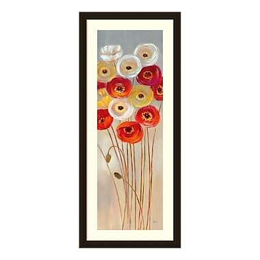 Amanti Art – Reproduction encadrée de « Follow the Sun I Poppies » de Nan, 18 x 42 po (DSW3583226)