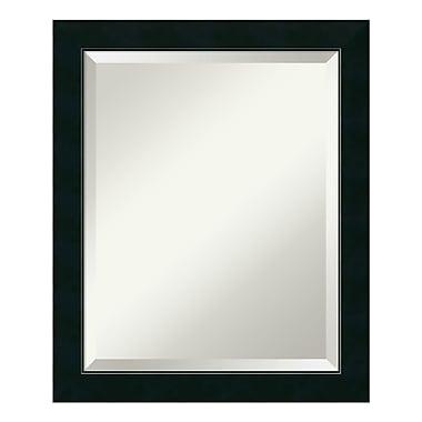 Amanti Art – Miroir de salle de bain, moyen, pour armoire standard de 24 à 28 po, noir Nero, 19 x 23 po (DSW1378140)