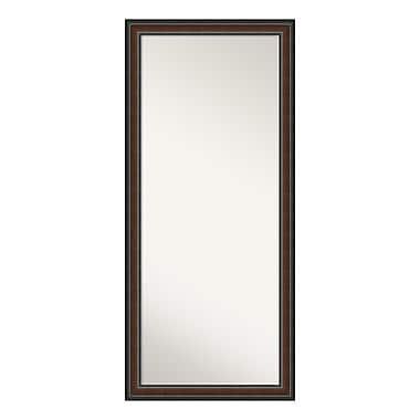 Amanti Art Floor/Leaner Mirror, Cyprus Walnut Wood, 29