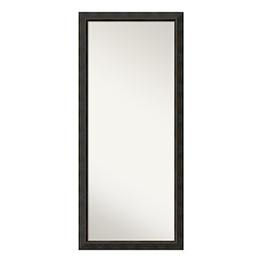 Amanti Art – Miroir à appuyer sur le plancher, bois de couleur bronze Signore, 29 x 65 po (DSW3316165)