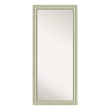 Amanti Art – Miroir à appuyer sur le plancher, bois argenté poli Vegas, 29 x 65 po (DSW3316318)