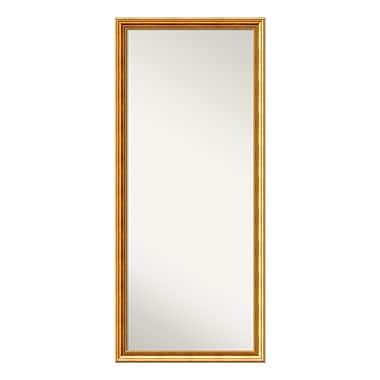 Amanti Art Floor/Leaner Mirror, Townhouse Gold Wood, 27