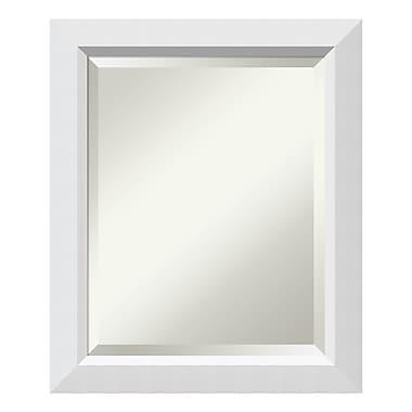 Amanti Art Wall Mirror Medium, Blanco White, 20