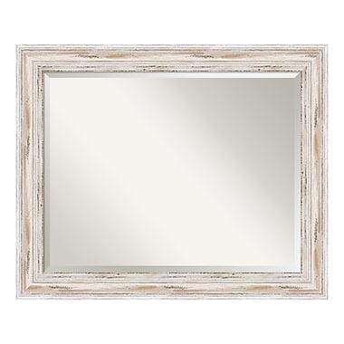 Amanti Art Wall Mirror Large, Alexandria White Wash, 33