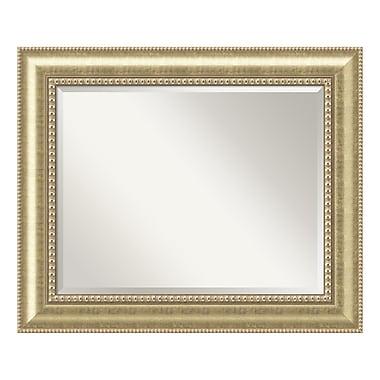 Amanti Art – Grand miroir de salle de bain, pour armoire standard de 30 à 36 po, champagne Astoria, 35 x 29 po (DSW3572552)