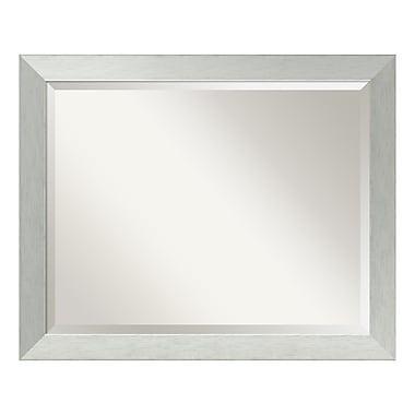 Amanti Art – Grand miroir de salle de bain, pour armoire standard de 30 à 36 po, argent sterling brossé, 32 x 26 po (DSW3572555)