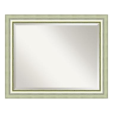 Amanti Art – Grand miroir de salle de bain pour armoire standard de 30 à 36 po, argent poli Vegas, 33 x 27 po (DSW3572565)