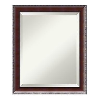 Amanti Art ? Miroir de salle de bain moyen, pour armoire standard de 24 à 28 po, noyer rustique