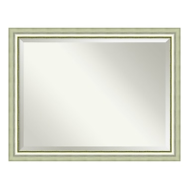 Amanti Art Wall Mirror Oversize Large, Vegas Curved Silver, 45