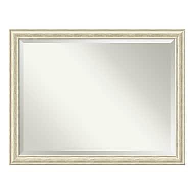 Amanti Art ? Miroir mural, surdimensionné, blanc délavé rustique