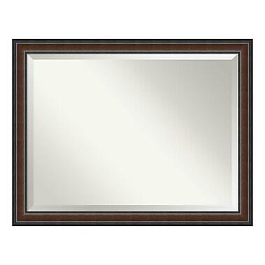 Amanti Art – Miroir mural surdimensionné, noyer Cyprus, 45 x 35 po (DSW3940175)