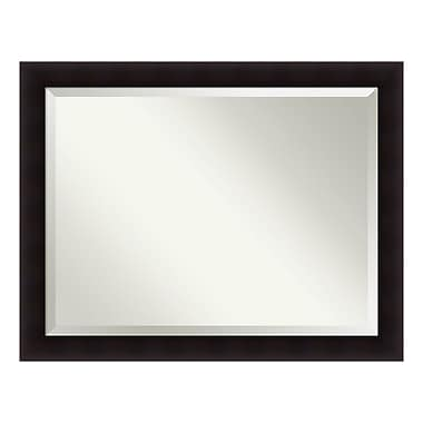 Amanti Art – Miroir mural surdimensionné, espresso Portico, 46 x 36 po (DSW3940177)