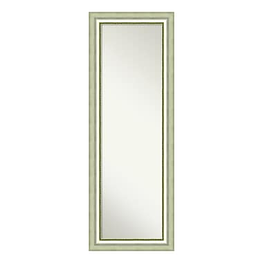 Amanti Art On The Door Full Length Wall Mirror, Vegas Curved Silver, 19