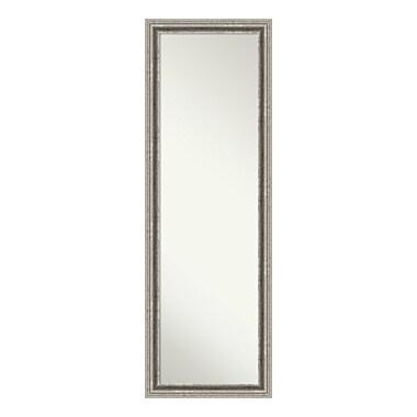 Amanti Art – Miroir mural/de porte pleine longueur, argenté Bel Volto, 17 x 51 po (DSW3940194)