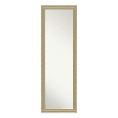 Amanti Art – Miroir mural/de porte pleine longueur, forme de goutte champagne, 17 x 51 po (DSW3940204)