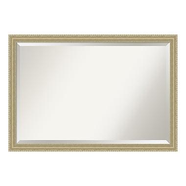 Amanti Art – Très grand miroir mural, forme de goutte champagne, 39 x 27 po (DSW3941590)
