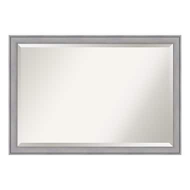 Amanti Art ? Très grand miroir mural, cérusé gris