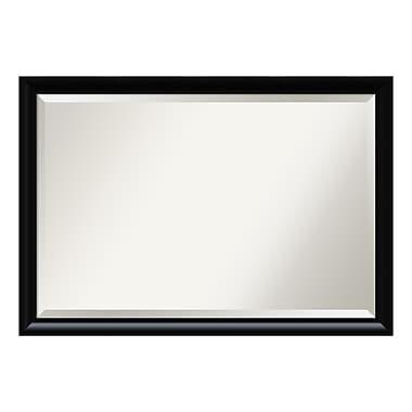 Amanti Art – Très grand miroir de salle de bain, armoire standard de 30 à 48 po, incurvé, noir Steinway, 39 x 27 po (DSW3941616)