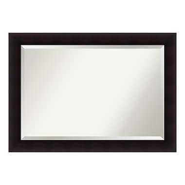 Amanti Art ? Très grand miroir de salle de bain, armoire standard de 30 à 48 po, espresso Portico