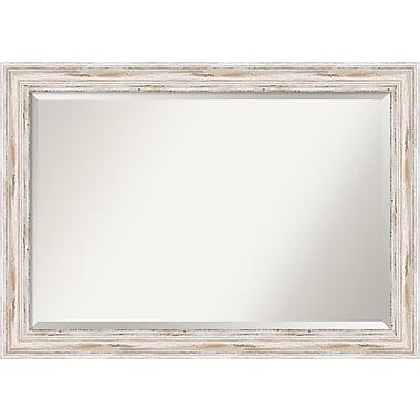Amanti Art ? Très grand miroir de salle de bain, armoire standard de 30 à 48 po, blanc délavé Alexandria