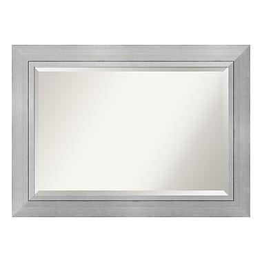 Amanti Art – Très grand miroir de salle de bain, pour armoire standard de 30 à 48 po, argenté Romano, 44 x 32 po (DSW3941621)