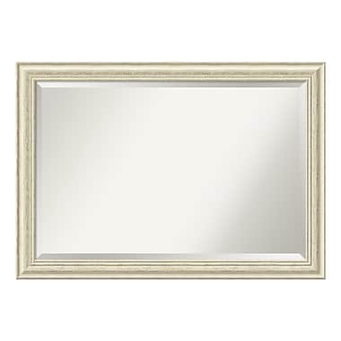 Amanti Art Wall Mirror Extra Large, Country White Wash, 41