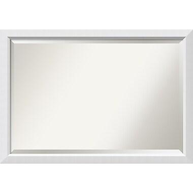 Amanti Art ? Très grand miroir de salle de bain, pour armoire standard de 30 à 48 po, blanc Blanco