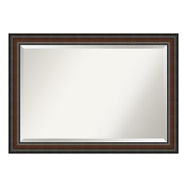 Amanti Art Wall Mirror Extra Large, Cyprus Walnut, 41