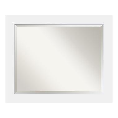 Amanti Art – Grand miroir de salle de bain pour armoire standard de 30 à 36 po, blanc Corvino, 33 x 27 po (DSW3941943)