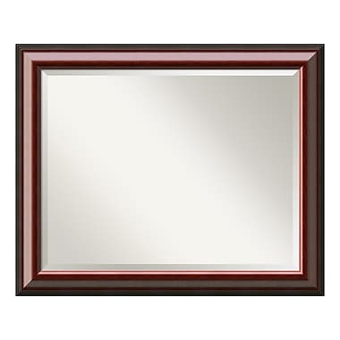 Amanti Art – Grand miroir mural, acajou Cambridge, 33 x 27 po (DSW01040)