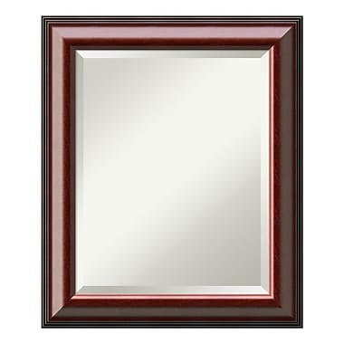 Amanti Art ? Miroir de salle de bain moyen, pour armoire standard de 24 à 28 po, acajou Cambridge