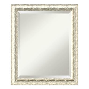 Amanti Art ? Miroir de salle de bain moyen pour armoire standard de 24 à 28 po, blanc délavé Cape Cod